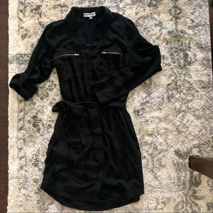Express Black Portofino Shirt Dress